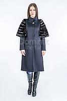 Пальто кашемир, рукава норка - 05457 длина 61 см