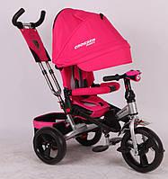Детский трехколесный велосипед-коляска Crosser T-400 EVA розовый