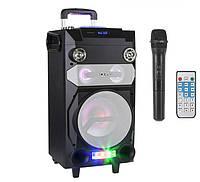 Колонка с радиомикрофоном K-0920 - 40W (USB/FM/Bluetooth/Аккумулятор)