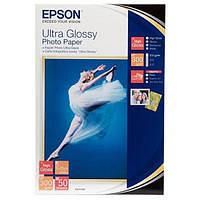 Фотобумага Epson Ultra Глянцевая  300г/м кв , 10 на 15 , 50л (C13S041943)