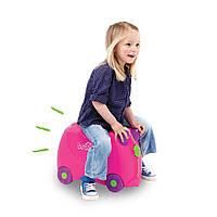 Детский чемодан Trunki Trixie Трикси на колесах розовый оригинал Англия