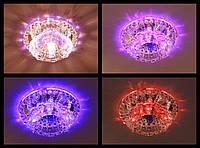 Точечный светильник Feron JD125 с LED подсветкой RGB (с плавной сменой цветов!)