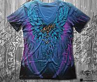 Женская футболка двухсторонняя KRASAR- АНГЕЛ (СИНЯЯ)