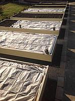 Грядка одинарная (2х1 метр, зеленая, коричневая)