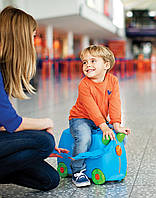 Детский чемодан Trunki  Terrance Терранс на колесах голубой оригинал Англия