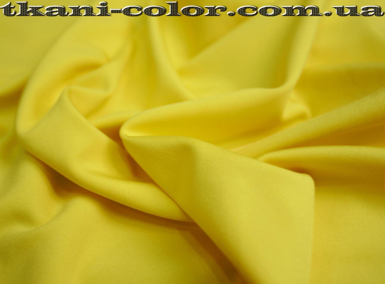 Микродайвинг трикотаж желтый