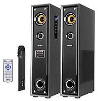 Комплект активной акустики с радиомикрофоном KOM-0228  (USB/SD/FM/Караоке)