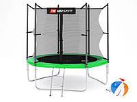 Батут Hop-Sport 8ft (244cm) green с внутренней сеткой  для дома и спортзала, Львов