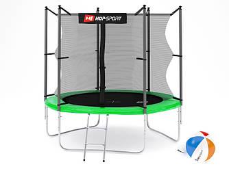 Батут Hop-Sport 8ft (244cm) green с внутренней сеткой  для дома и спортзала