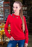 Красивая женская кофта красного цвета w-t6104611