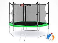 Батут Hop-Sport 10ft (305cm) green с внутренней сеткой  для дома и спортзала