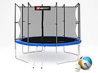 Батут (4 ноги ) Hop-Sport 10ft (305cm) blue с внутренней сеткой  для дома и спортзала, Львов