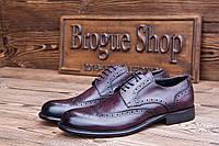 Мужские кожаные туфли  броги из Италии MV , 29 см, 44 размер. Код: 424.