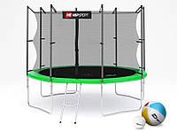Батут (4 ноги ) Hop-Sport 10ft (305cm) green с внутренней сеткой  для дома и спортзала, Львов
