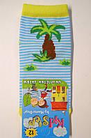 Носки на малышей в голубую полоску с пальмой, фото 1