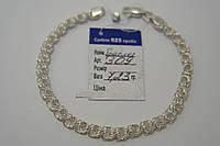 Красивый браслет из серебра 925 пробы - плетение Роза