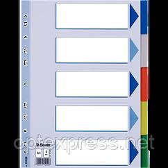 Разделители пластиковые из ПП A4 Esselte, 5 листов