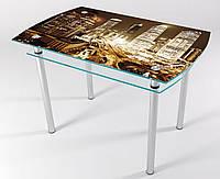 Стол стеклянный кухонный КТ 02