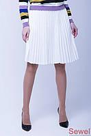 Женская вязаная юбка на весну
