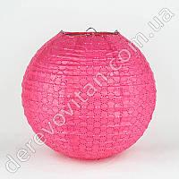 Подвесной фонарик ажурный, розовый, 25 см
