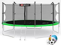 Батут Hop-Sport 16ft (488cm) green с внутренней сеткой  для дома и спортзала, Львов