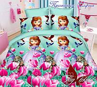 Косплект постельного белья для девочки полуторный София прекрасная 1,5-спальные