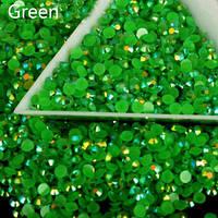 Стразы пластиковые для дизайна ногтей 100 шт. Green