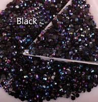 Стразы пластиковые для дизайна ногтей 100 шт. Black