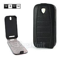 Brum Premium Кожаный чехол для HTC One SV (c520e) (No.32 black)