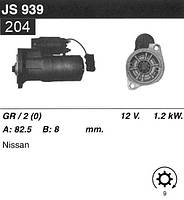 Стартер Nissan Terano II 2.4i 92-  /1, 2кВт z9/ JS939