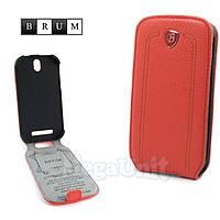 Brum Premium Кожаный чехол для HTC One SV (c520e) (No.24 watermelon red)
