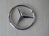 Эмблема z Mercedes Vito 85.3мм нового образца наклейка на авто задняя на направляющих без скотча кузовная , фото 3