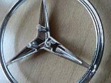 Эмблема z Mercedes Vito 85.3мм нового образца наклейка на авто задняя на направляющих без скотча кузовная , фото 2