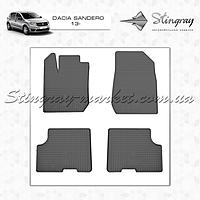 Комплект резиновых ковриков Stingray для автомобиля  Dacia Sandero 2013-     4шт.