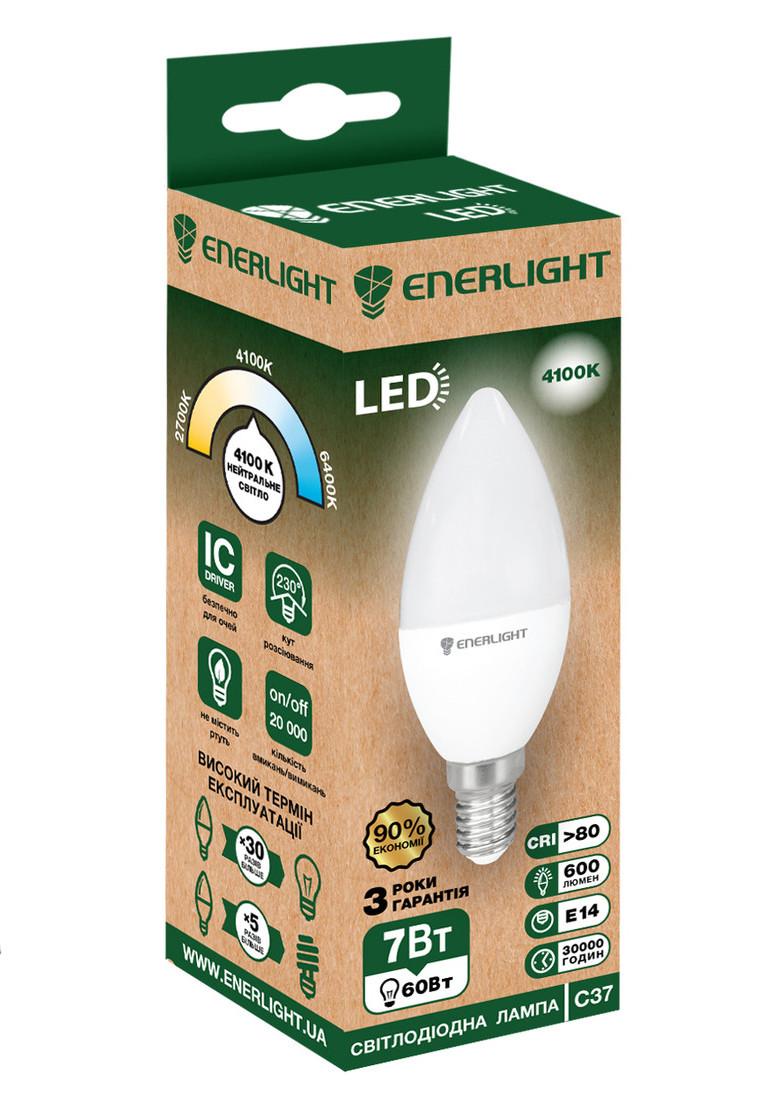 LED лампа Enerlight С37 7Вт 4100K E14