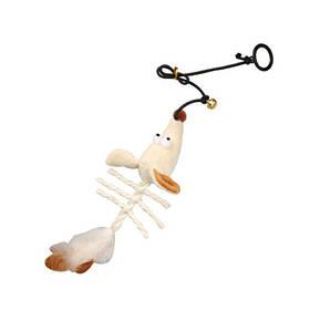 КАРЛИ-ФЛАМИНГО игрушка для кошек с кошачьей мятой, подвесная мышь