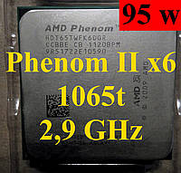 Процессор AMD Phenom II X6 1065T, 2.9GHz,sAM3,Tray (HDT65TWFK6DGR) 1045t,1055t, 1075t