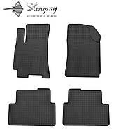 Комплект резиновых ковриков Stingray для автомобиля  Daewoo Lanos 1997-     4шт.