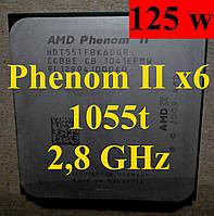 Процессор AMD Phenom II X6 1055T, 2.8GHz,sAM3,Tray (HDT55TFBK6DGR) 1045 1065 1075