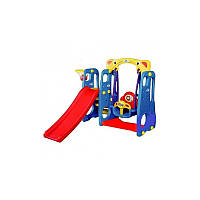 Дитячий ігровий майданчик, гірка, гойдалка, баcкетбол 4in1
