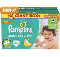 Подгузники Pampers Active Baby 4+ Maxi Plus (9-16кг) 96 шт Giant Box Plus