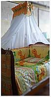 Комплект для детской кроватки Динозаврики.