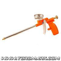 Пистолет для монтажной пены 290 мм, пластиковый корпус, металлический баллоноприеник