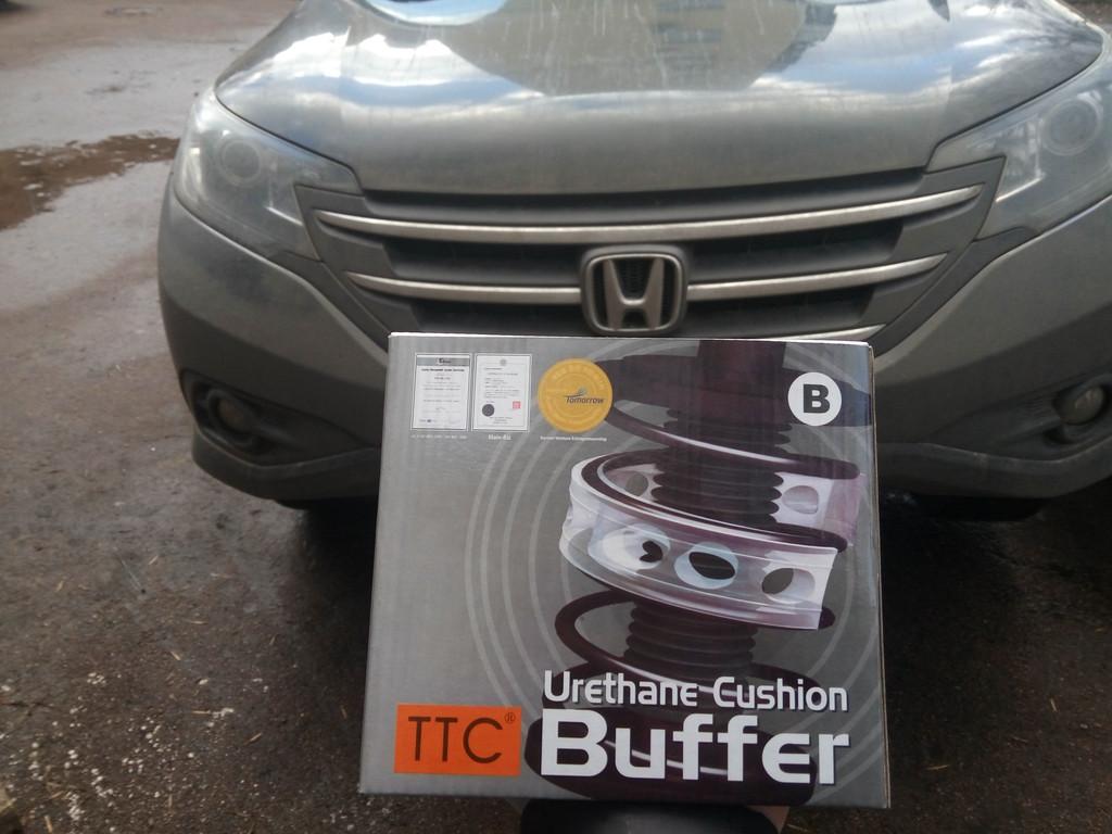 Установка автобаферов ТТС на Honda CRV