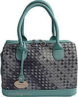 Женская сумка бочонок-плетенка