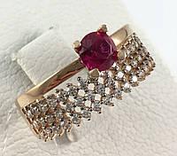 Кольцо с рубином золотое 585 проба