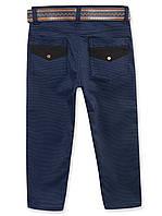 Коттоновые брюки на мальчика, р.104-140
