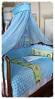 Комплект с балдахином в детскую кроватку. КАРАПУЗ