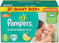 Подгузники Pampers Active Baby 5 Junior (11-18кг) 87 шт Giant Box Plus