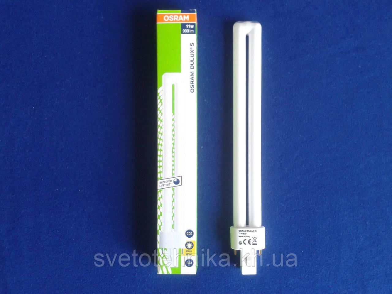Лампа енергозберігаюча Osram PL11/830 Dulux G23 11Вт 900lm